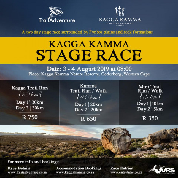 TrailAdventure Kagga Kamma Stage Run & Walk