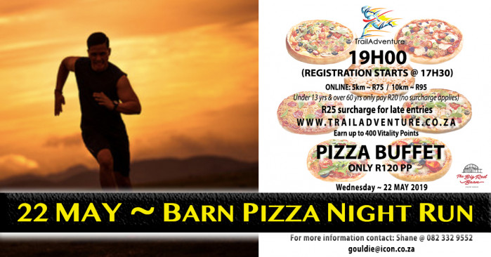 TrailAdventure Barn Pizza Night Run/Walk