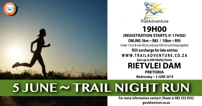 TrailAdventure Rietvlei Night Run/Walk