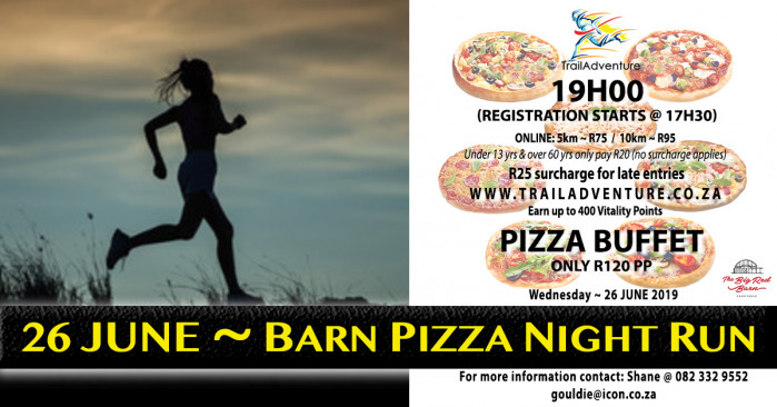 TrailAdventure Barn Pizza Night Run & Walk